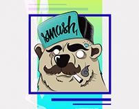 Ilustração SMASH'1 | FEAR THE BEAR