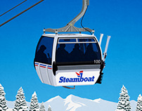 Steamboat Ski Resort Poster