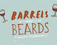 Barrels and Beards // Illustration