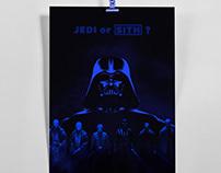 Starwars Duotone Poster