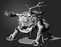 Monster. Sculpt fo adv. agency Media-Storm