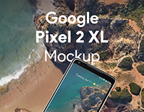 Google Pixel 2 XL PSD Screen Mockup