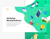 Re-design Concept For Web Design & Development Agency