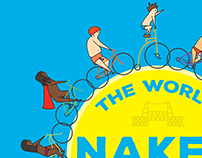 Portland Naked Bike Ride Illustration