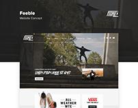 Skate Brand Web + Branding Concept