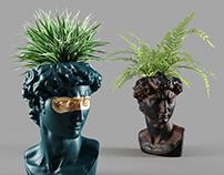 head david vase
