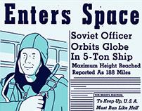 A la conquête de l'espace - 4 pages comic
