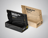 Paper Mailing Boxes Mockup