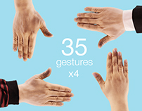 """Hand Touch Gestures"" footages PNG+Alpha"