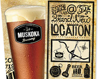 Muskoka Brewery Rack Card