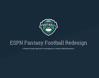 ESPN Fantasy Football Redesign