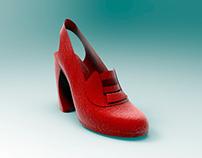 Diseño CAD 3D de calzado Dama