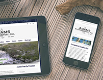 Adams Environmental Inc. Web site
