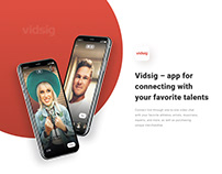 Vidsig – app for connecting with your favorite talents