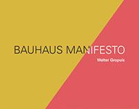 Bauhaus Manifesto poster design