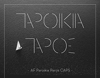 Free Greek Font AF Paroikia Paros CAPS