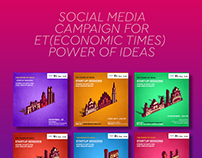 Economic times Social media campaign for power of ideas