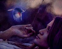 Girl With Blue Bird
