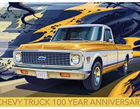 CHEVROLET TRUCK 100 YEAR ANNIVERSARY POSTER 1971 C10 FL