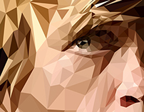 Tyrion Lannister polygonal portrait