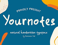 Yournotes || Natural Handwritten Font