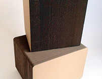 Puf z tektury / Pouf cardboard furniture
