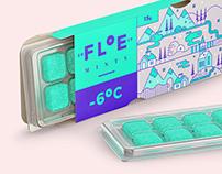 Floe mints branding and packaging