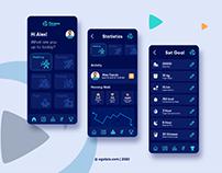 App UI of Fitness Blender