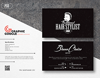 Free Hair Stylist Business Card Design Template