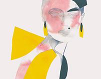 P A P E R C U T / Fashion Collage / Yellow