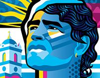 Maradona illustration - Tschutti Heftli submission 2017