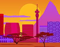 African landscape for game background