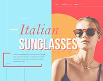 Sunglasses Shop 2017 (Web, UI/UX Design, E-commerce)