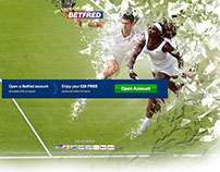Betfred Wimbledon Landing pages and banners
