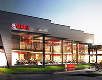 3d exterior rendering and 3d animation showroom