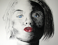 Nina kust - Painting 100x80 cm