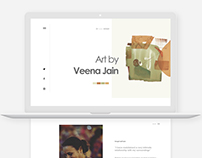 Minimal website design - Artist portfolio