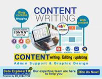 Content Writing, Editing + Designing