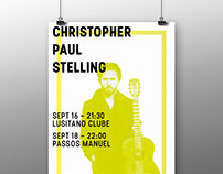 Christopher Paul Stelling // A3 poster + FB cover