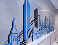TAPE ART OFFICE DESGN // Microsoft // SKYLINES