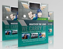 Freight Logistic Services Flyer Template Vol.5