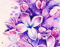 Small watercolor lilac