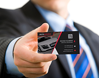 Corporate Business Card for Automotive Company