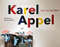 Signalétique Karel Appel - Musée d'Art Moderne