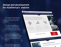 Design and development for Asiamerica's website