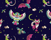 Night Animal - Illustration & Pattern