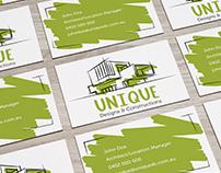 Architecture studio; business card design