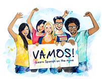 VAMOS! Learn Spanish on the move