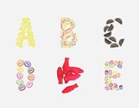 Vintage Candy Alphabet