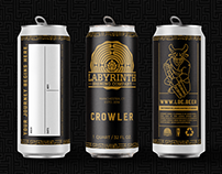 Labyrinth Brewing Company Crowler Design